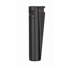CLIPPER - Black Matte Metallic Jet Flame Lighter