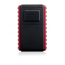 COLIBRI - Quasar Astoria Guillotine Triple Jet Cigar Lighter Black- Red LI600C13