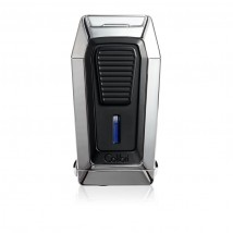 COLIBRI - Gotham (Quantum) VCUT Chrome Triple Jet Flame Cigar Lighter LI970C2