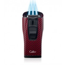 COLIBRI - Monaco Red Carbon Fiber Triple Jet Αναπτήρας Πούρου