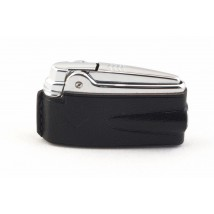 RONSON - Premier Varaflame Black Leather Lighter