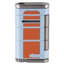 XIKAR - Αναπτήρας Allume Single - Blue / Orange Stripes
