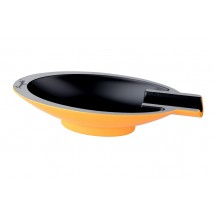 ANGELO - Aluminium Yellow Oval Single Cigar Ashtray (421002)