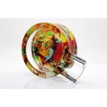 Glass Ashtray for one cigar (P326-2)