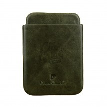 PIERRE CARDIN - Olive Green Leather Case for Cigarillos 41409-410