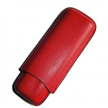 SIKARLAN - Red 2 Cigars Leather Case