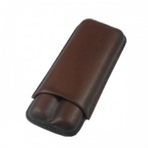 SIKARLAN -  2 Cigars Brown Leather Case Ring 64