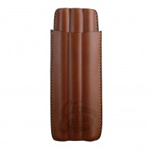 STE MANN - Tabac Leather 3 Long Panetelas Size Cigar Case 1024006