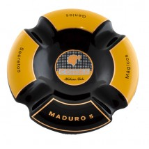 Ceramic Round Cigar Ashtray for 4 Cigars with Cohiba Maduro Logo