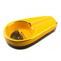 Yellow Ceramic Ashtray for 1 Cigar