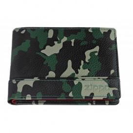 ZIPPO - Leather Tri-Fold Wallet Camo Green (2006051)