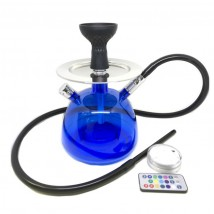Acrylic Blue Single Hookah 30cm with LED (HOK36BLUESL)
