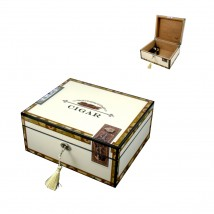 Ξύλινος Υγραντήρας / Humidor Πούρων Cigar Print (9202200)