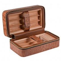 SIKARLAN - Leather Travel / Portable Humidor (4051)