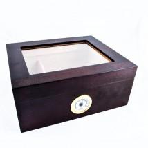 SIKARLAN - Window Cherry Humidor for 30 Cigars (119-C)