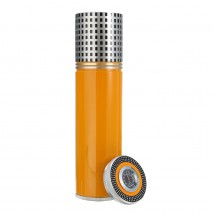 Portable Tube Humidor in Yellow - Grey Color