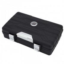 JIFENG - Travel / Portable Humidor for 10 Cigars Black (JF-080-B)