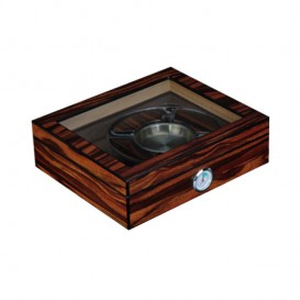 Wooden Humidor  with set ashtray and cutter and window  for 20-25 cigars (1442)