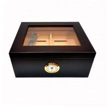SIKARLAN - Brown Window Humidor for 30 Cigars (121)