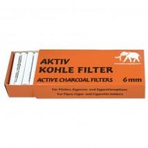 WHITE ELEPHANT - Aktiv Cohle Pipe Filters 6mm (45 pcs)