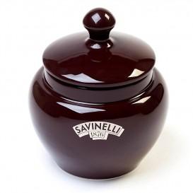 SAVINELLI - Brown Ceramic Pipe Tobacco Vase (V1003)