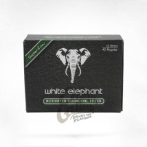 WHITE ELEPHANT - Carbon Active Pipe Filters 9mm (40 pcs)