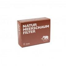 WHITE ELEPHANT - Natur Meerschaum Pipe Filters 9mm (40 pcs)