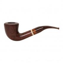 FALLION - Model 56 Smooth Tobacco Pipe Colored Mouthpiece