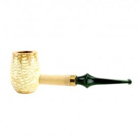 MISSOURI - Meerschaum Corn Cob Emerald Tobacco Pipe