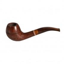 FALLION - Model 46 Smooth Tobacco Pipe Colored Mouthpiece