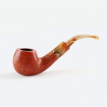 PIPEX -Tobacco Pipe With Amber Look Mouthpiece Model 26 Natural