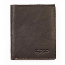ZIPPO - Δερμάτινο Πορτοφόλι χρώματος Mocha (2005388)