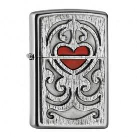 ZIPPO - Wood Heart Emblem Lighter GR9053