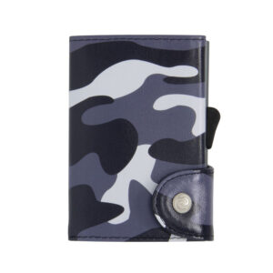 C-SECURE – Leather Wallet Camouflage Black with RFID Protection (WCH004)