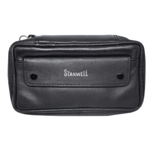 STANWELL – Black Leather 2 Pipes Pouch (31298837)