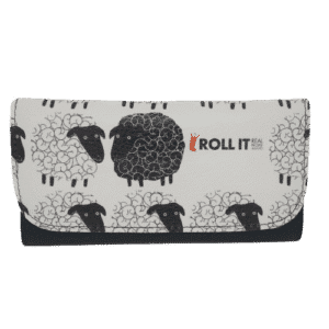 rollit sheep white pu leather tobacco pouch
