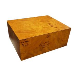 SIKARLAN – Wooden Humidor Natural for 40-50 Cigars (0205)