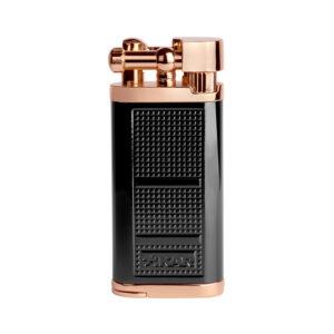 XIKAR – Pipeline Angled Candle Flame Pipe Lighter Black Rose (595BKRS)